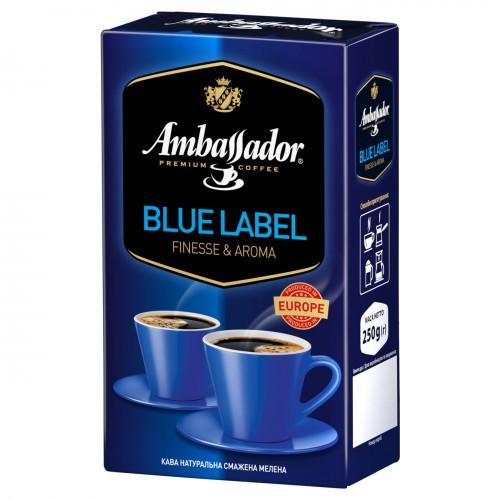 Кава натуральна смажена мелена «Blue Label», 250+25 г ТМ «Ambassador»