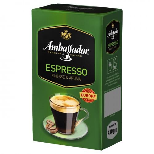 Кава натуральна смажена мелена «Espresso», 450 г ТМ «Ambassador»
