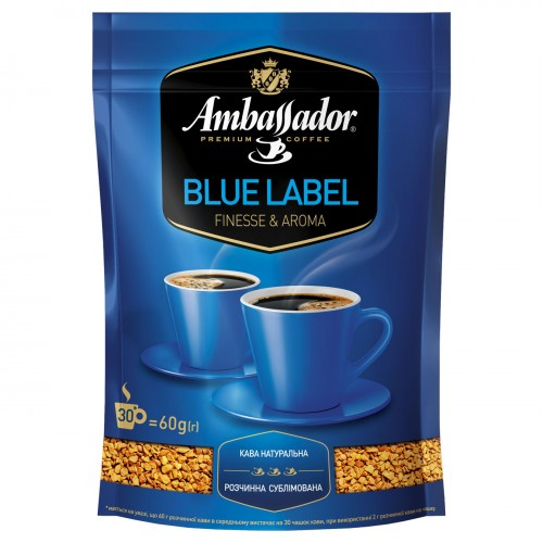Кава розчинна сублімована «Blue Laber», 60 г ТМ «Ambassador»