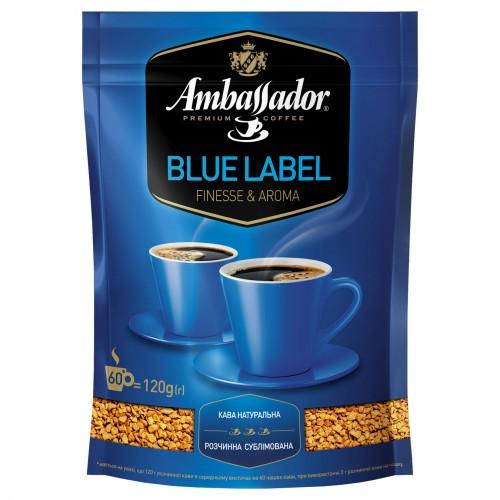 Кава розчинна сублімована «Blue Laber», 120 г ТМ «Ambassador»