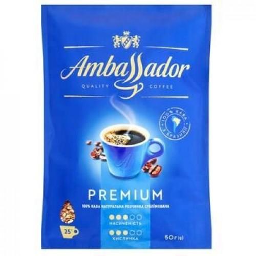 Кава розчинна сублімована «Premium», 50 г ТМ «Ambassador»