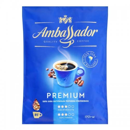 Кава розчинна сублімована «Premium», 170 г ТМ «Ambassador»
