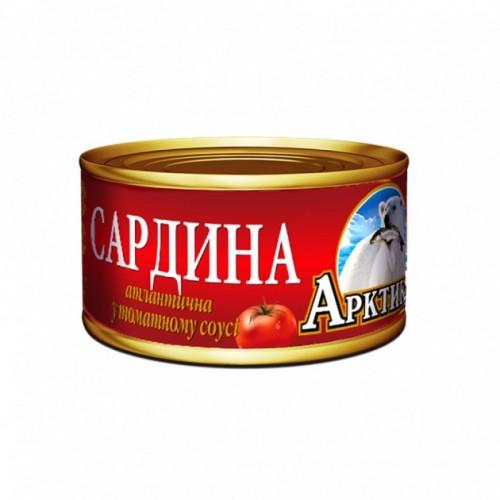 Сардина атлатична у томатному соусі Арктика, 240 г