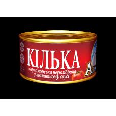 Кілька чорноморська нерозібрана у томатному соусі Арктика, 230 г