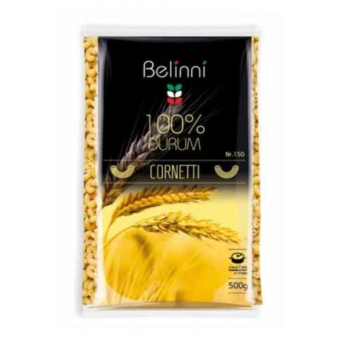Ріжки звичайні Pasta Cornetti rigati №150 500 г TM «Belinni».