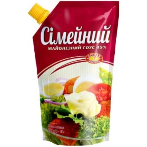 """Соус майонезний 45% """"Сімейний"""" 580 г «Чугуев Продукт»"""