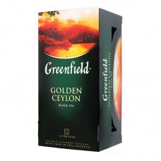 Чай цейлонський чорний байховий дрібний у пакетиках для разової заварки «Golden Ceylon», 50 г ТМ «Greenfield»