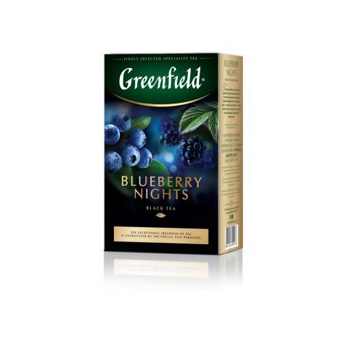 Чай цейлонський чорний байховий листовий з ароматом чорниці та ожини «Blueberry Nights», 100 г ТМ «Greenfield»