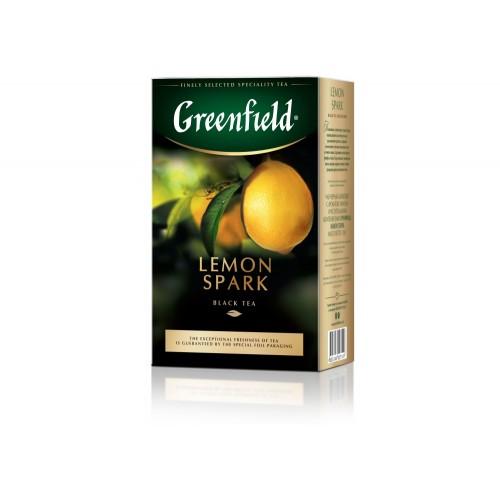Чай цейлонський чорний байховий листовий з ароматом лимону «Lemon Spark», 100 г ТМ «Greenfield»