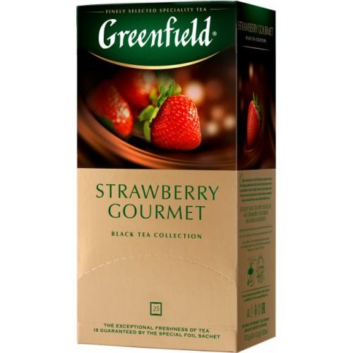 Чай індійський чорний байховий дрібний з ароматом журавлини та ванілі в пакетиках «Vanilla Cranberry», 37,5 г ТМ «Greenfield»