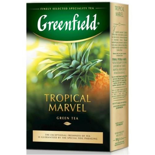 Чай китайський зелений байховий листовий з ібиром та ананасом «Tropical Marvel», 100 г ТМ «Greenfield»