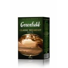 Чай індійський чорний байховий листовий «Classic Breakfast», 100 г ТМ «Greenfield»