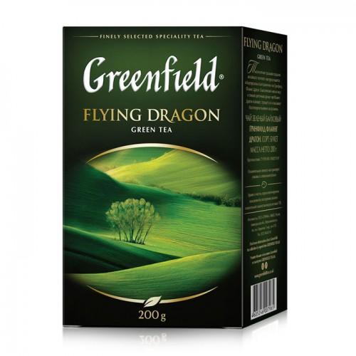 Чай китайський зелений байховий листовий «Flying Dragon», 200 г ТМ «Greenfield»