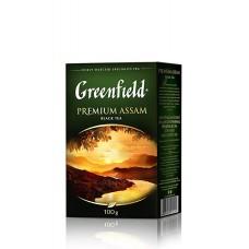 Чай індійський чорний байховий листовий «Premium Assam», 100 г ТМ «Greenfield»