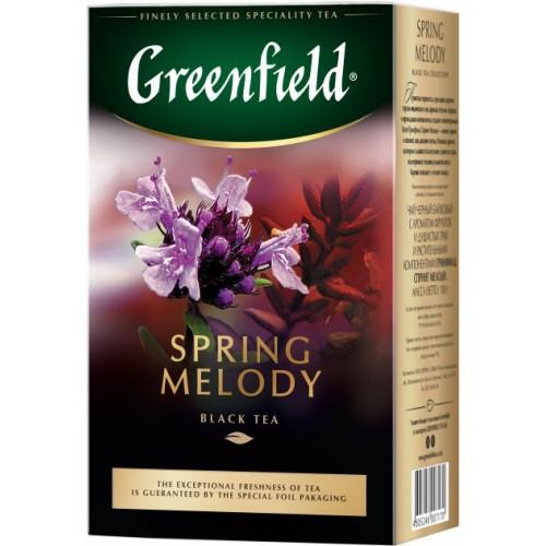 Чай индийский черный байховый листовой с душистыми травами «Spring Melody», 100 г ТМ «Greenfield»