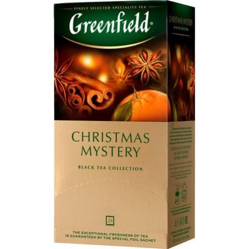 Чай індійський чорний байховий дрібний у пакетиках для разової заварки «Christmas Mystery», 37,5 г ТМ «Greenfield»