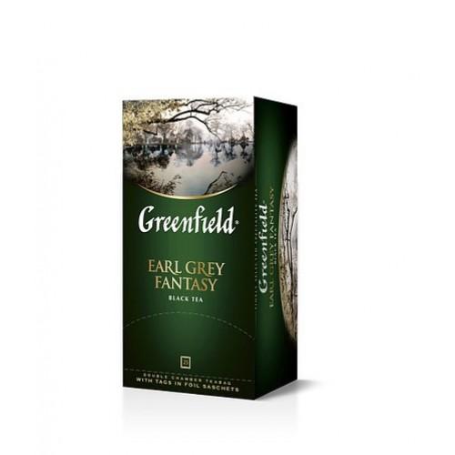 Чай чорний байховий дрібний у пакетиках для разової заварки з ароматом бергамоту «Earl Grey Fantasy», 50 г ТМ «Greenfield»