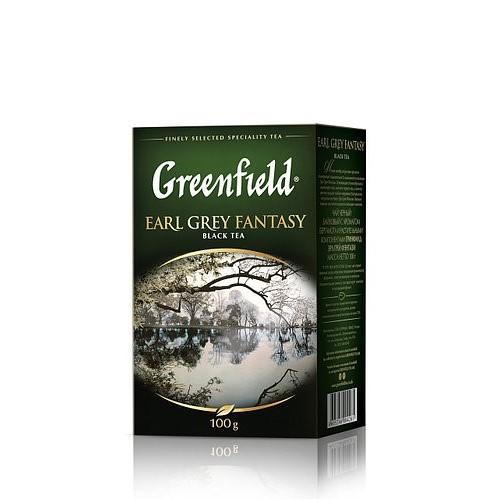 Чай чорний байховий листовий з ароматом бергамоту «Earl Grey Fantasy», 100 г ТМ «Greenfield»