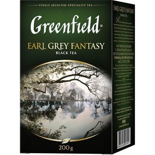 Чай чорний байховий дрібний у пакетиках для разової заварки з ароматом бергамоту «Earl Grey Fantasy», 200 г ТМ «Greenfield»