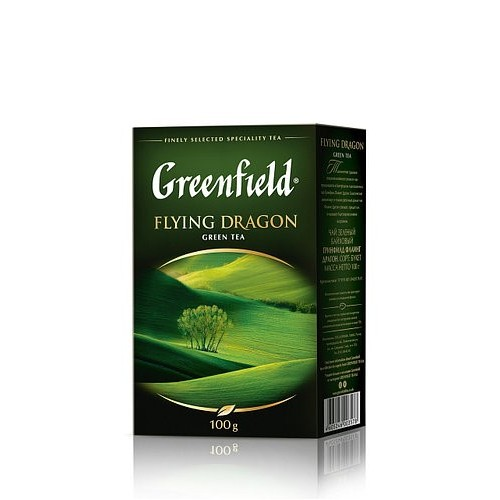 Чай китайський зелений байховий листовий «Flying Dragon», 100 г ТМ «Greenfield»