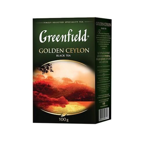 Чай цейлонський чорний байховий листовий «Golden Ceylon», 100 г ТМ «Greenfield»