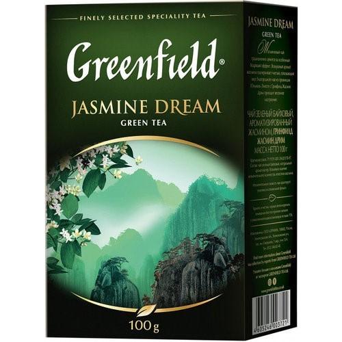 Чай китайський зелений байховий листовий з ароматом жасмину «Jasmine Dream» 100 г ТМ «Greenfield»