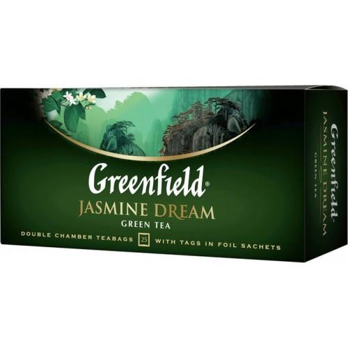 Чай китайський зелений байховий дрібний з ароматом жасмину в пакетиках «Jasmine Dream», 50 г ТМ «Greenfield»