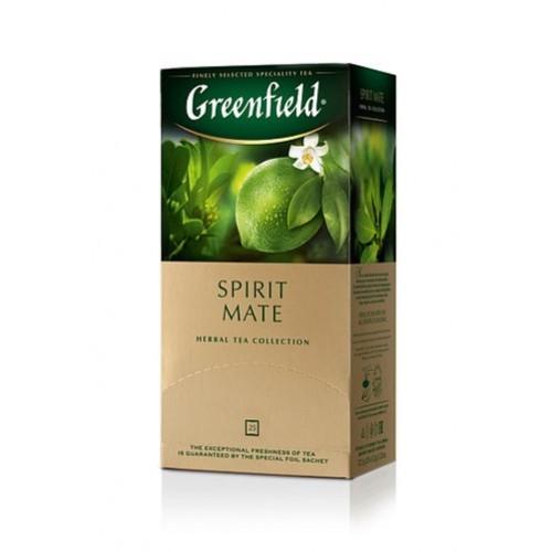 Чай трав'яний дрібний з ароматом лайма та грейпфрута у пакетиках для разової заварки «Spirit Mate», 37,5 г ТМ «Greenfield»