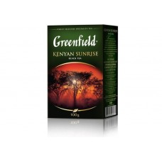 Чай кенійський чорний байховий листовий «Kenyan Sunrise» 100 г ТМ «Greenfield»