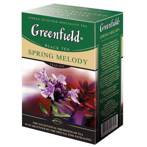 Чай індійський чорний байховий дрібний з духмяними травами у пакетиках для разової заварки «Spring Melody», 150 г ТМ «Greenfield»