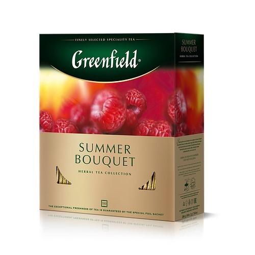 Чай фруктово - трав'яний в пакетиках для разової заварки «Summer Bouquet», 200 г (100 x 2г) ТМ «Greenfield»