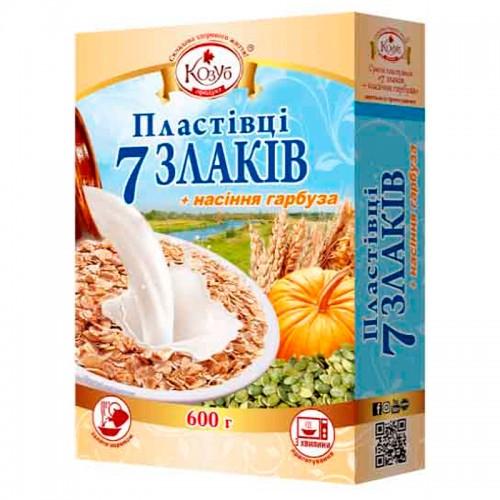 Суміш пластівців 7 злаків + насіння гарбуза миттєвого приготування