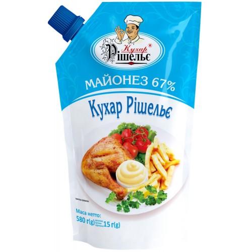 Майонез 67% 580 г «Кухар Рішельє»