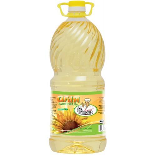 "Олія соняшникова рафінована 3,0л ""Кухар Рішельє"""