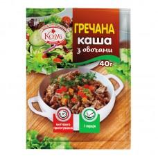 Каша гречана з овочами миттєвого приготування