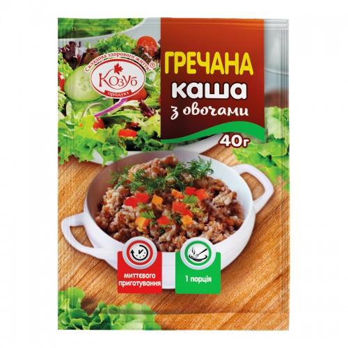 Каша гречневая с овощами моментального приготовления