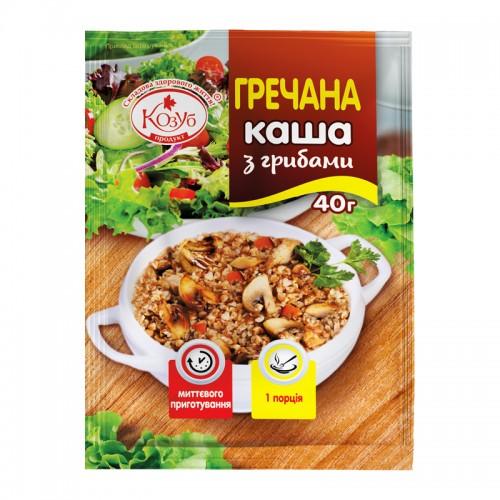 Каша гречана з грибами миттєвого приготування