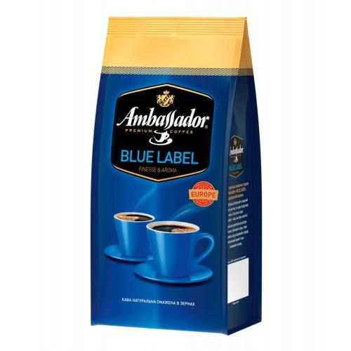 Кава натуральна смажена в зернах «Blue Label», 1 кг ТМ «Ambassador»