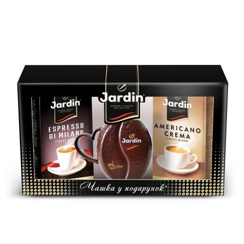 Кава натуральна смажена мелена  «Americano Crema» 250г.+ «Espresso still di Milano», 250г+ чашка. ТМ «Jardi