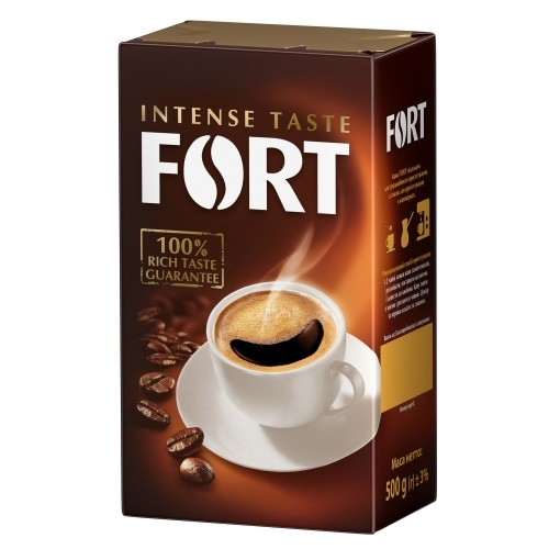 Кава натуральна смажена мелена, 500 г ТМ «Fort»