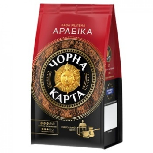 Кава натуральна смажена мелена, 70 г ТМ «Чорна Карта»
