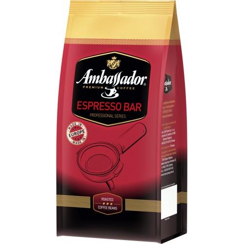Кава натуральна смажена в зернах «Espresso Bar», 1 кг ТМ «Ambassador»