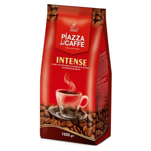 Кава натуральна смажена в зернах «Intense», 1 кг ТМ «Piazza del Caffe»