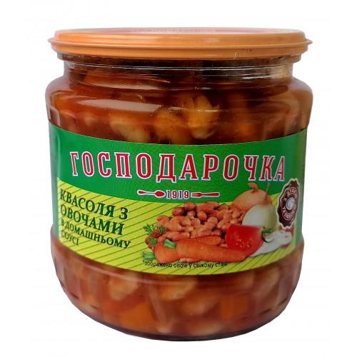 Квасоля у томатному соусі Господарочка 450г