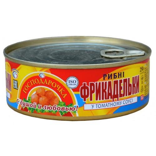 Фрикадельки рибні в т/с ж/б  Господарочка, 250 г