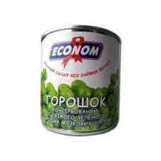 """Горошок зелений  """"Економ"""" ж/б 1с  420 г"""