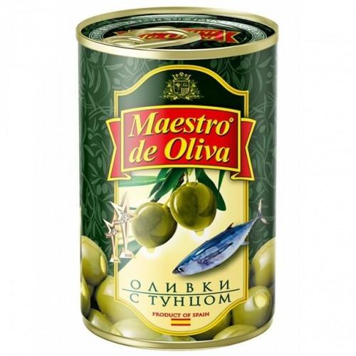 "Оливки "" Maestro "" з тунцем   ж/б  300 г"