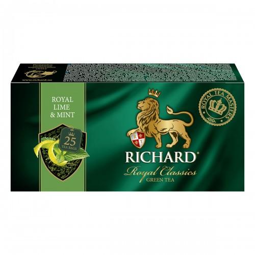 """Чай """"Річард"""" """"Royal Lime & Mint"""" 25 пакетиків 50 г (25*2г)"""