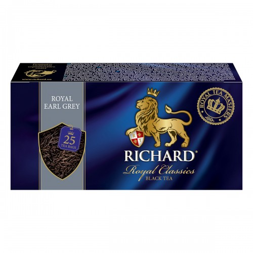 """Чай """"Річард"""" """"Royal Earl Grey"""" 25 пакетиків 50 г (25*2г)"""