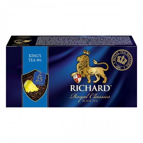 """Чай """"Річард"""" """"King's Tea"""" 25 пакетиків 50 г (25*2г)"""